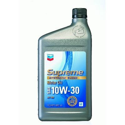 Chevron Supreme Synthetic Blend Motor Oil